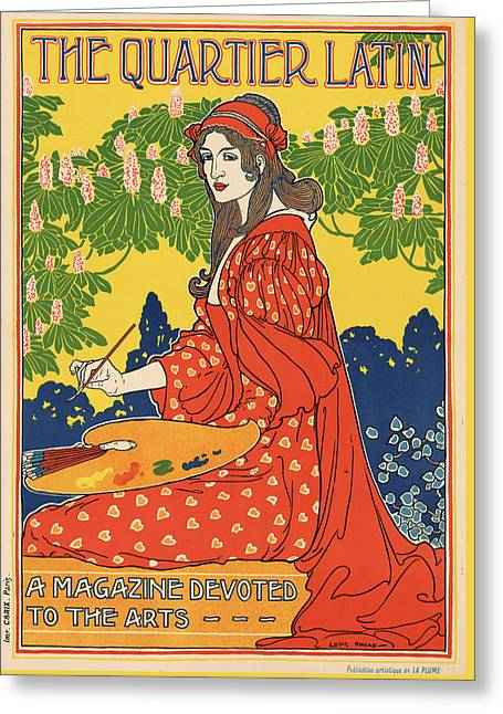 French Poster Greeting Card by Hans Wolfgang Muller Leg