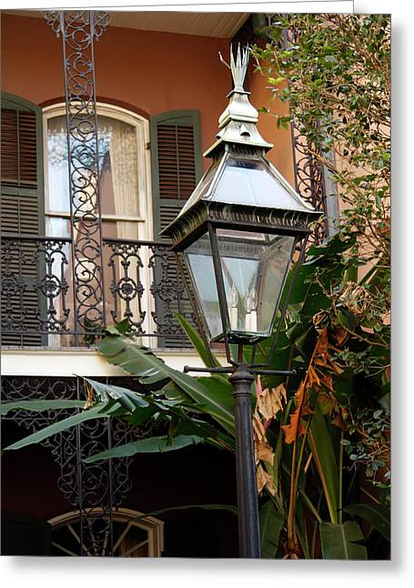 Greeting Card featuring the photograph French Quarter Courtyard by KG Thienemann