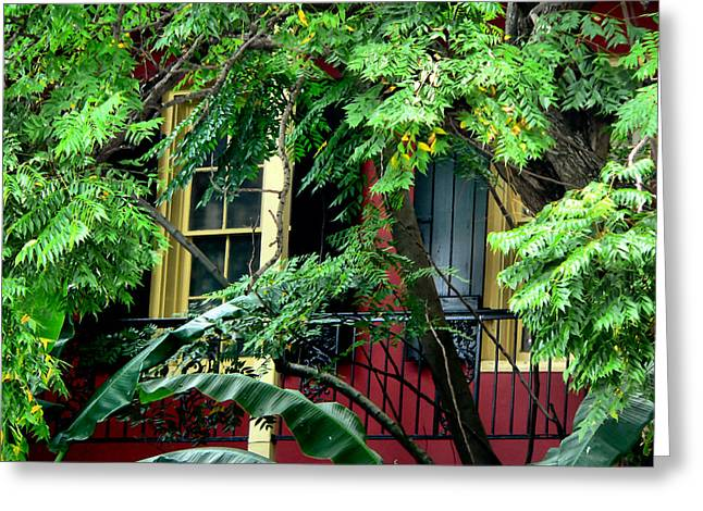 French Quarter Foliage  Greeting Card