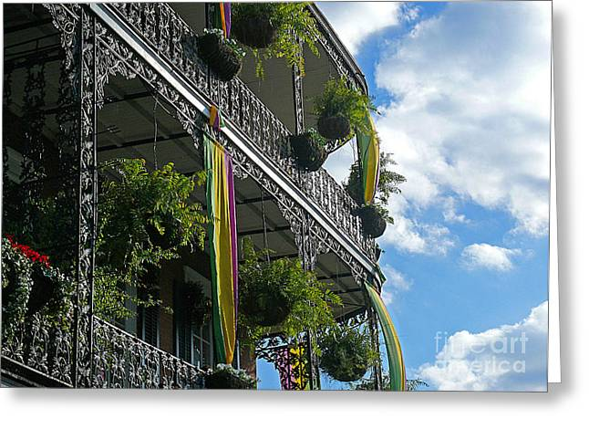 French Quarter Iron Work Greeting Card