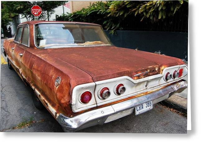 French Quarter Rusty Chevy Greeting Card