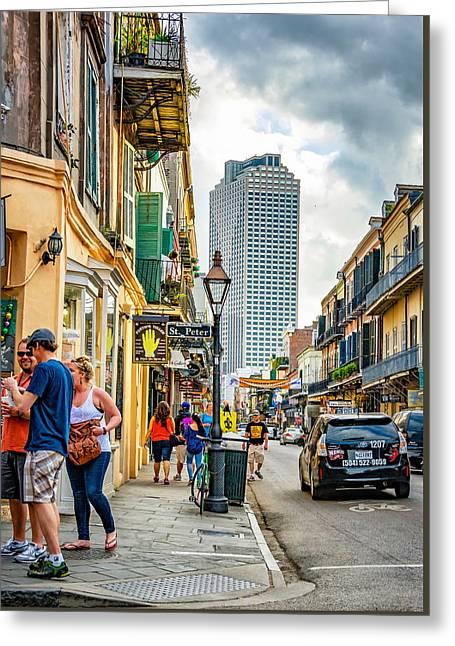 French Quarter Sidewalk 2 Greeting Card by Steve Harrington