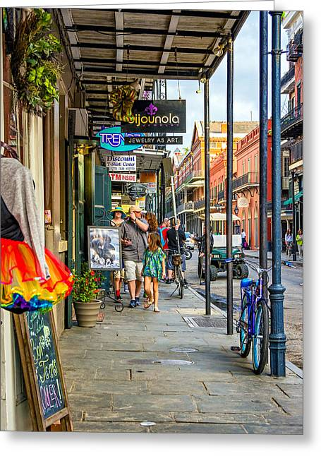 French Quarter Sidewalk Greeting Card by Steve Harrington