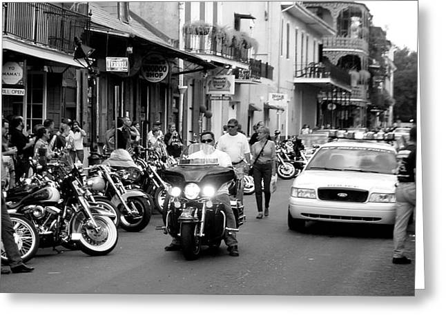 Greeting Card featuring the photograph French Quarter Street Scene by Kate Purdy
