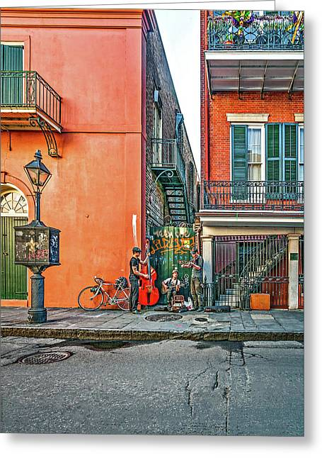French Quarter Trio Greeting Card by Steve Harrington