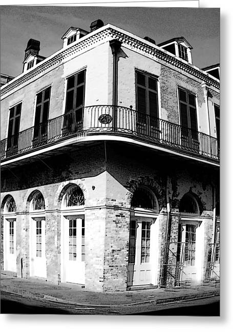 French Quarter With A Wide Focus Greeting Card by Alicia Morales