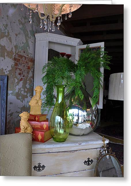 French Reflection Greeting Card by Jan Amiss Photography