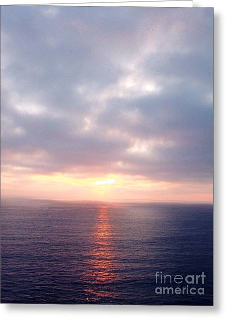 French Riviera Sunset Greeting Card