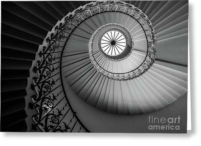 French Spiral Staircase 1 Greeting Card by Lexa Harpell