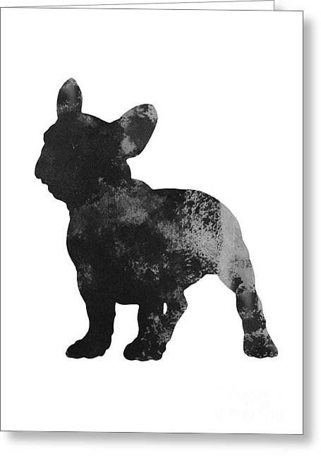 Frenchie Drawing Watercolor Art Print Greeting Card
