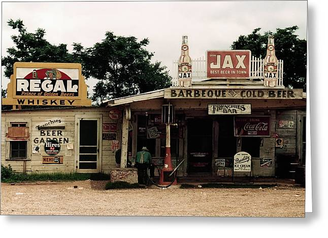 Frenchies Bar And One-pump Gas Station - Melrose, Louisiana  1940 Greeting Card