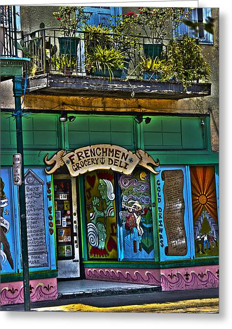 Frenchman Deli Greeting Card by Shelley Bain