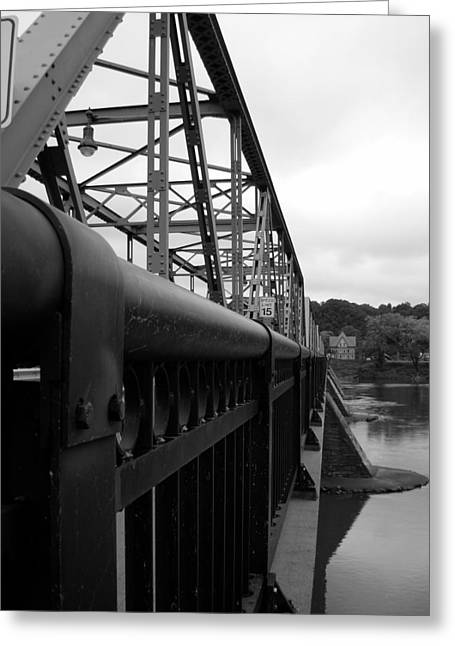 Frenchtown Bridge Greeting Card by Amanda Vouglas