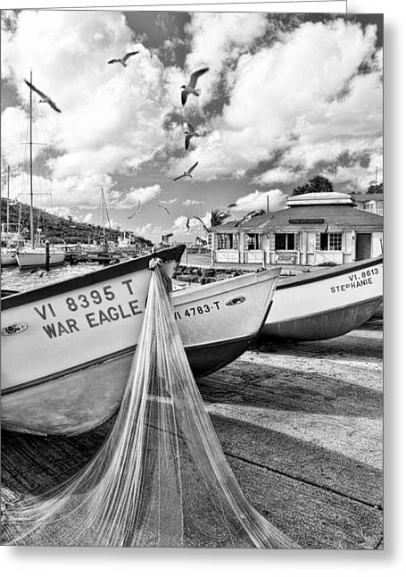 Frenchtown Fishing Boats 1 Greeting Card