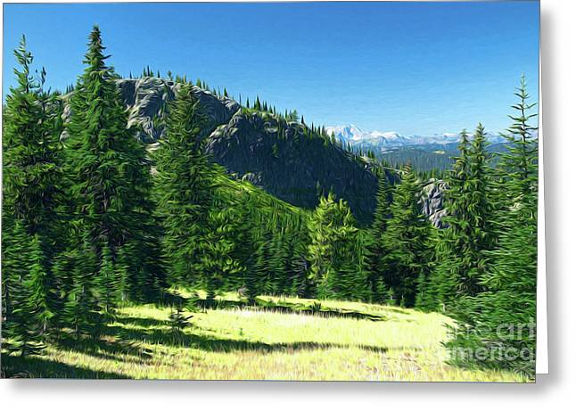 Greeting Card featuring the photograph Fresh Air In The Mountains Photo Art by Sharon Talson
