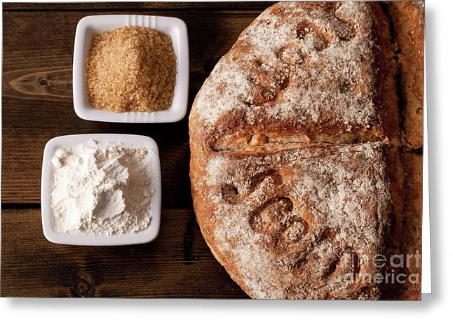 Fresh Baked Rustic Bread  Greeting Card