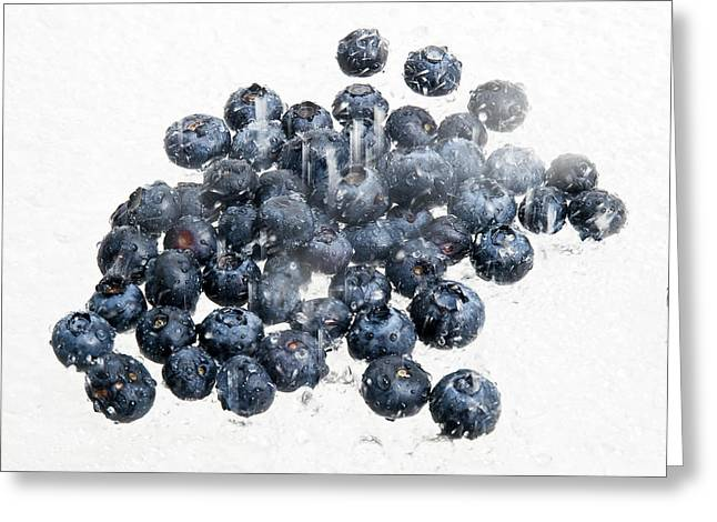 Fresh Blueberries Greeting Card by Jim DeLillo