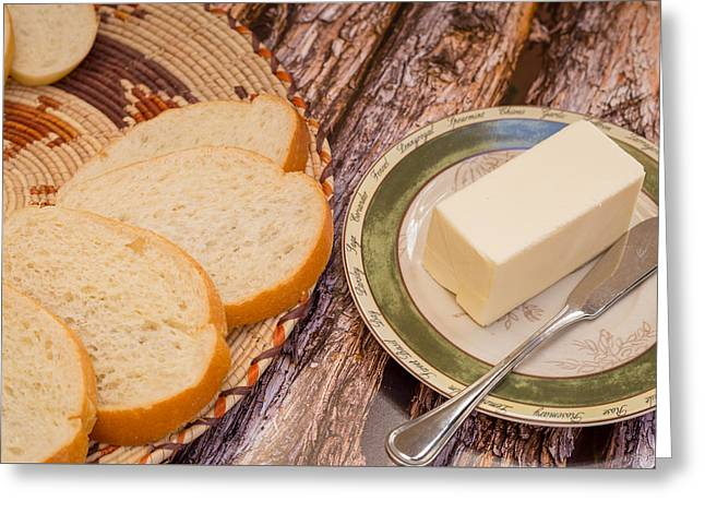 Fresh Bread And Butter Greeting Card by Jon Manjeot
