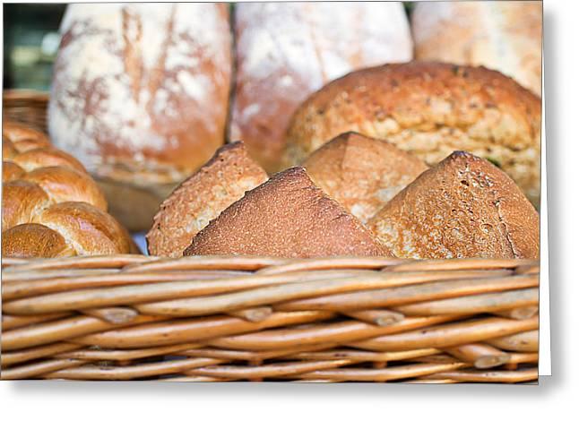 Fresh Bread Greeting Card by Tom Gowanlock
