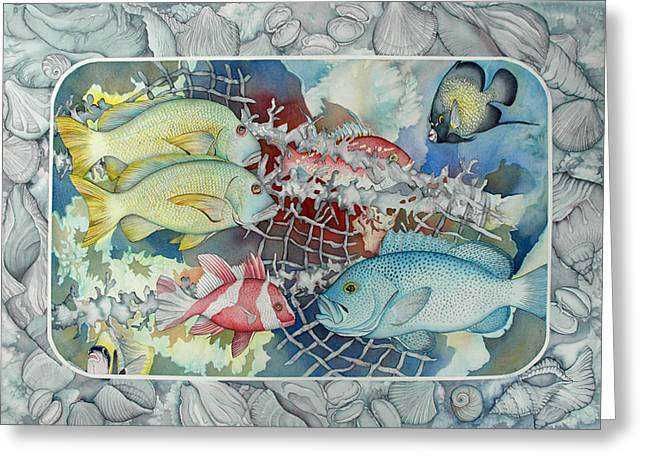 Fresh Catch Greeting Card by Liduine Bekman