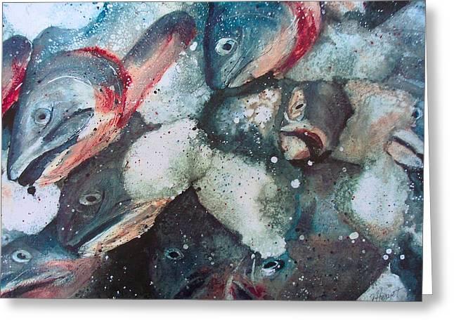 Fresh Catch Greeting Card by Victoria Heryet