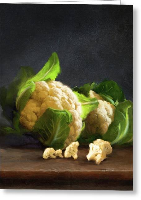 Fresh Cauliflower Greeting Card