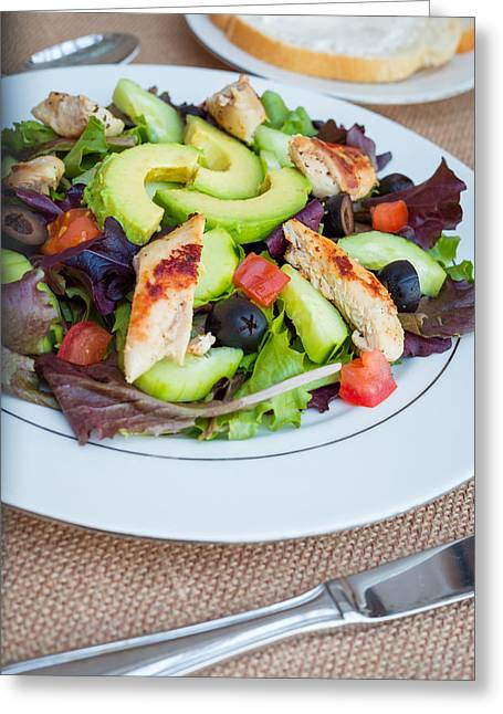 Fresh Chicken Salad With Avocado #2 Greeting Card by Jon Manjeot