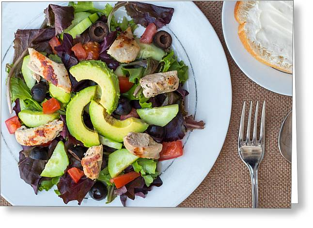 Fresh Chicken Salad With Avocado #3 Greeting Card by Jon Manjeot