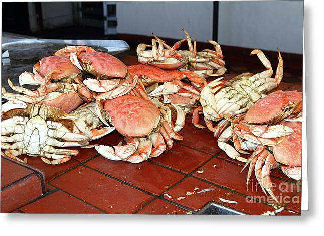 Fresh Cooked Crabs At Fishermans Wharf San Francisco California 7d14459 Greeting Card