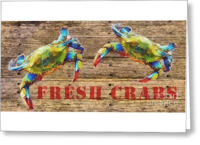 Fresh Crabs 2 Greeting Card