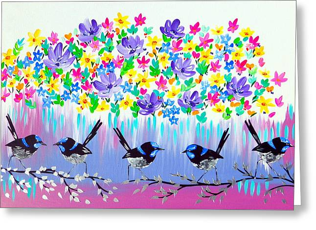 Fresh Crushed Color Greeting Card by Cathy Jacobs