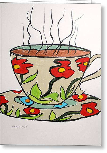 Greeting Card featuring the painting Fresh Cup by John Williams