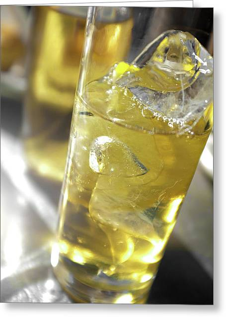 Greeting Card featuring the photograph Fresh Drink With Lemon by Carlos Caetano