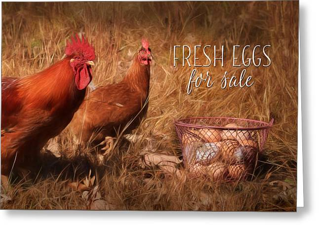 Fresh Eggs For Sale Greeting Card