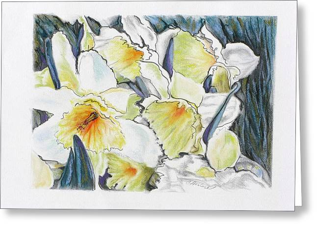 Fresh Faces Greeting Card by Carole Haslock