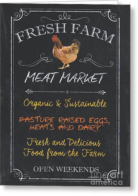 Fresh Farm Meat Greeting Card by Debbie DeWitt