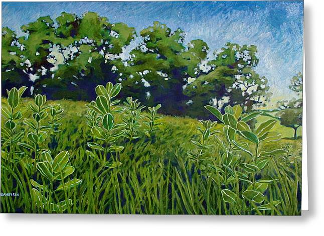 Greeting Card featuring the painting Fresh Field by Andrew Danielsen