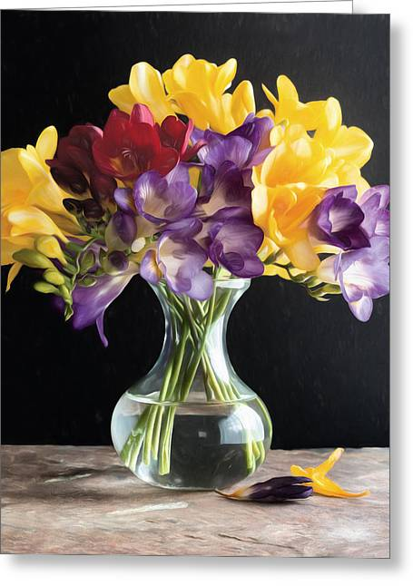 Fresh Freesias Greeting Card