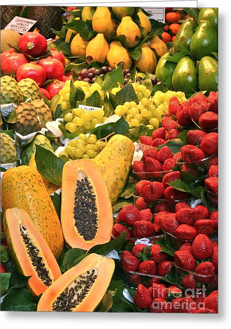 Fresh Fruit Greeting Card by Amy Sorvillo