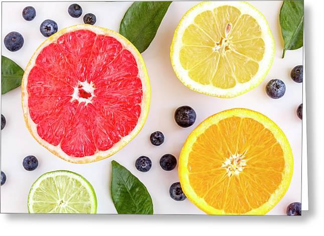 Fresh Fruit Greeting Card by Teri Virbickis