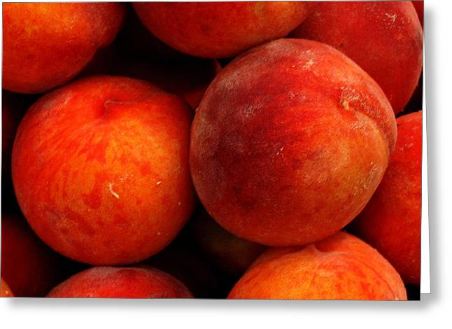Fresh Fuzzy Peaches Greeting Card