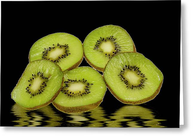 Fresh Kiwi Fruits Greeting Card by David French