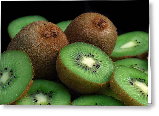 Tropical Fruit Greeting Cards - Fresh Kiwi Greeting Card by Terence Davis