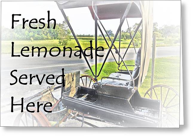 Fresh Lemonade Served Here Greeting Card by Eloise Schneider