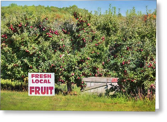 Fresh Local Fruit Greeting Card by Lori Deiter