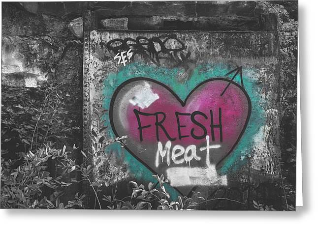 Fresh Meat Greeting Card