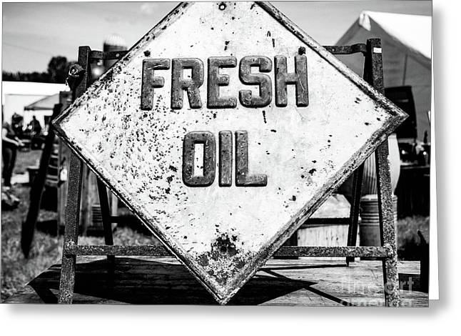 Fresh Oil Greeting Card