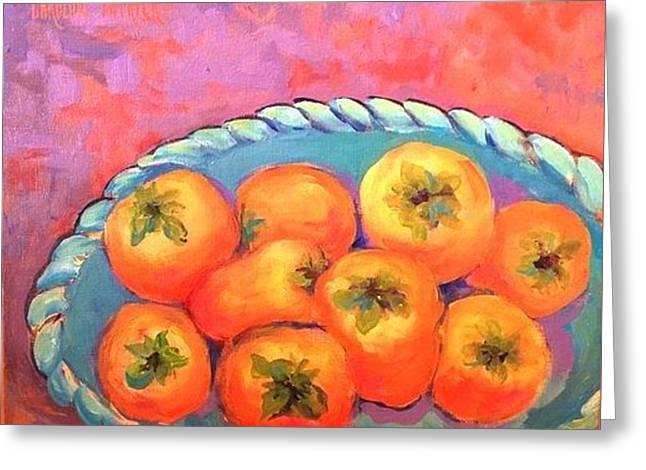 Fresh Persimmons Greeting Card