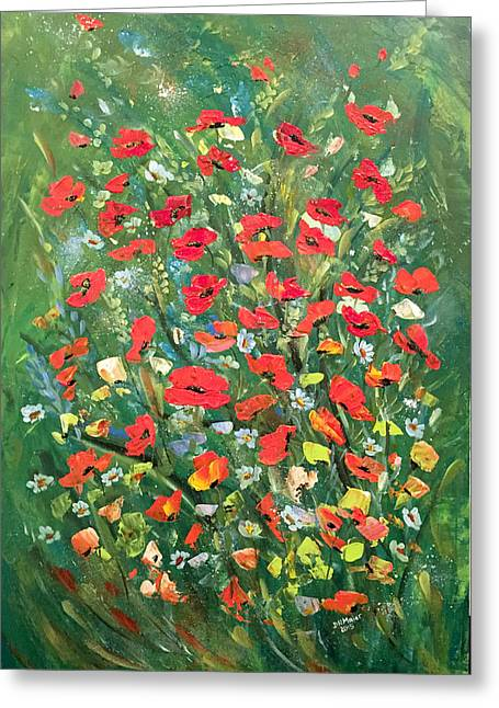 Fresh Poppies From The Garden Greeting Card