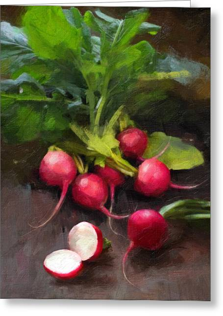 Fresh Radishes Greeting Card by Robert Papp